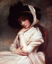 Emma Hart in a Straw Hat George Romney, 1785 oil on canvas, Courtesy of the Huntington Library, Art Collections and Botanical Gardens, San Marino, California (cat. 109)