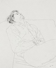 Peter Reclining by David Hockney, 1972 Private Collection, Cologne - © David Hockney