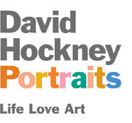 David Hockney Portraits logo