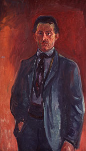 Self-portrait against Red Background by Edvard Munch, 1906 - © Munch-museet/Munch Ellingsen-gruppen/BONO