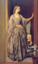 Lady Margaret Beaumont and her Daughter by G.F. Watts, c.1860-2 The Viscount Allendale