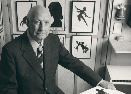 Tell us More about our silhouettes, photograph of Hubert Leslie, Silhouettist