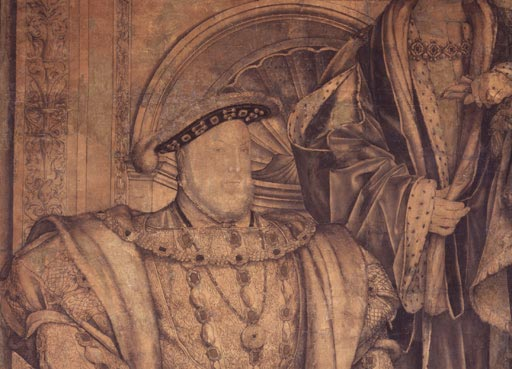King Henry VIII; King Henry VII (detail) by Hans Holbein the Younger © National Portrait Gallery, London