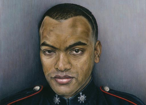 Explore further, painting of Johnson Gideon Beharry, Soldier